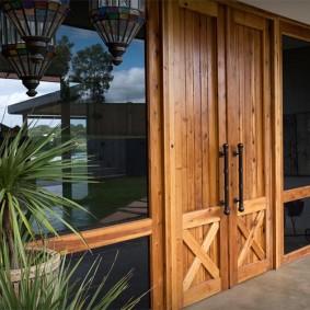 входные деревянные двери идеи интерьер