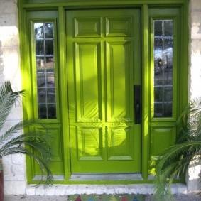 входные деревянные двери интерьер идеи