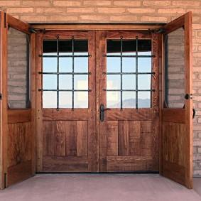 входные деревянные двери виды дизайна