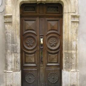входные деревянные двери идеи декора