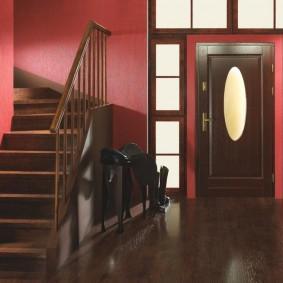 входные деревянные двери фото декор