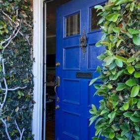 входные деревянные двери декор фото