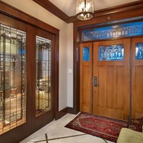 входные деревянные двери идеи фото