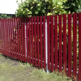 забор из евроштакетника фото интерьера
