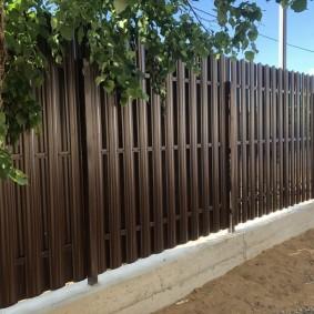 забор из евроштакетника фото оформления