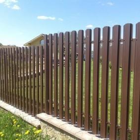 забор из евроштакетника фото вариантов