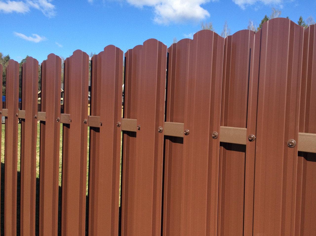 забор из евроштакетника дизайн идеи