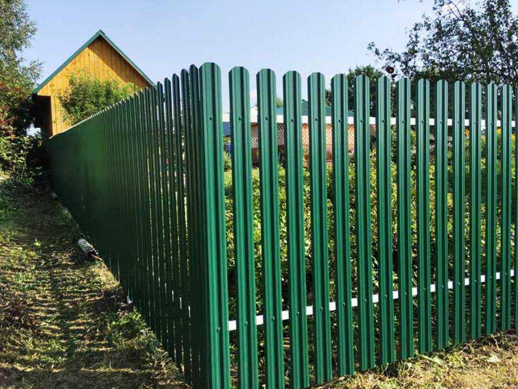 забор из евроштакетника идеи дизайна