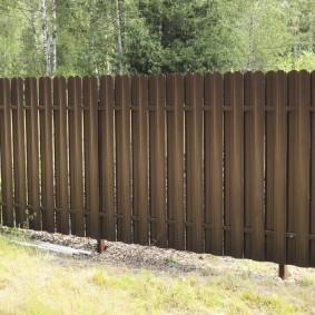 забор из евроштакетника оформление фото