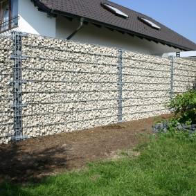 забор из габионов фото обзор