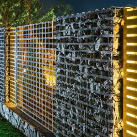 забор из габионов дизайн