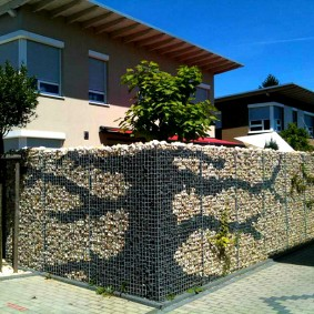 забор из габионов идеи дизайн