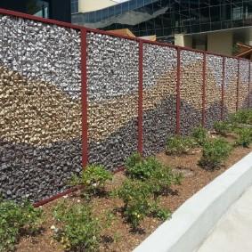 забор из габионов фото декор