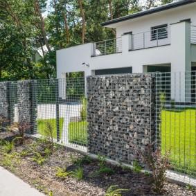 забор из габионов фото декора