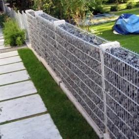 забор из габионов идеи варианты
