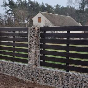 забор из габионов виды фото