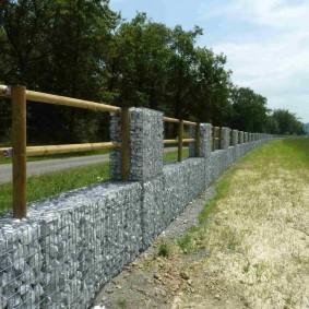 забор из габионов фото видов