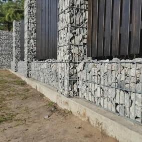 забор из габионов виды идеи