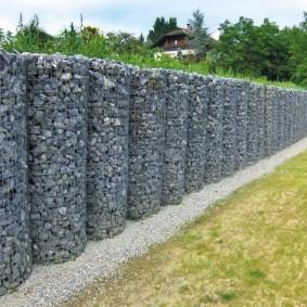 забор из габионов идеи виды