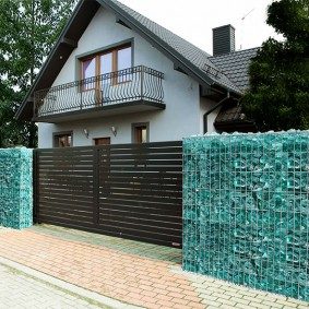 забор из габионов обзор