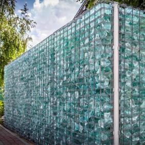 забор из габионов идеи фото