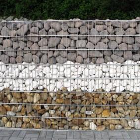 забор из габионов идеи декор