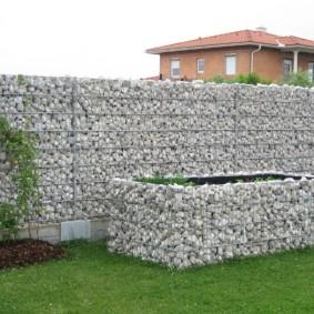 забор из габионов идеи декора