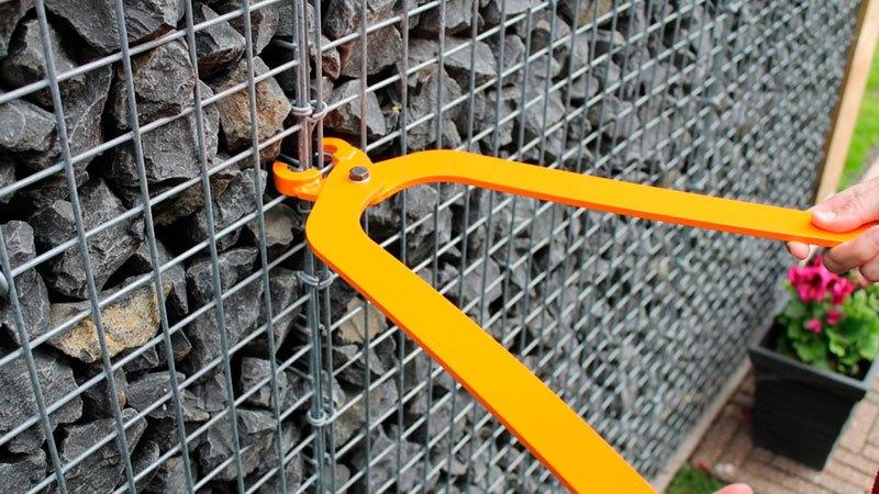 забор из габионов как сделать