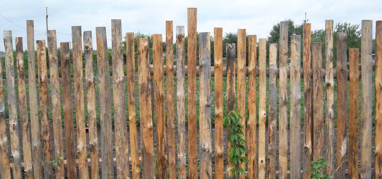 дачный забор из горбыля