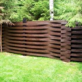 забор из горбыля идеи дизайна