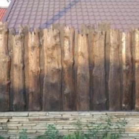забор из горбыля фото декор