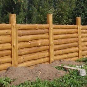 забор из горбыля декор идеи