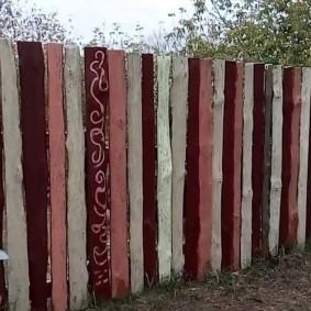 забор из горбыля оформление фото