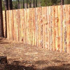 забор из горбыля идеи фото