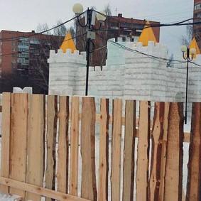 забор из горбыля фото виды