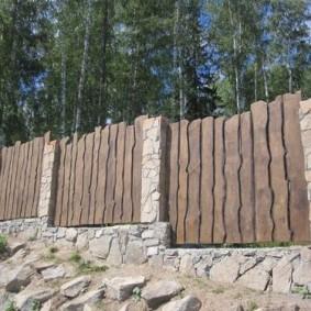 забор из горбыля фото видов