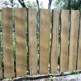 забор из горбыля фото дизайн