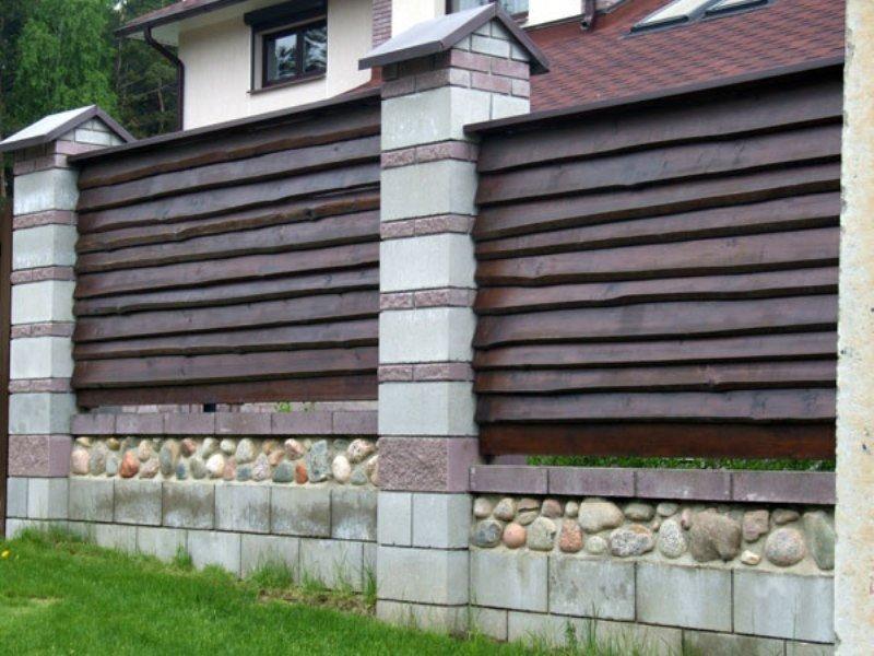 горизонтальный забор из горбыля