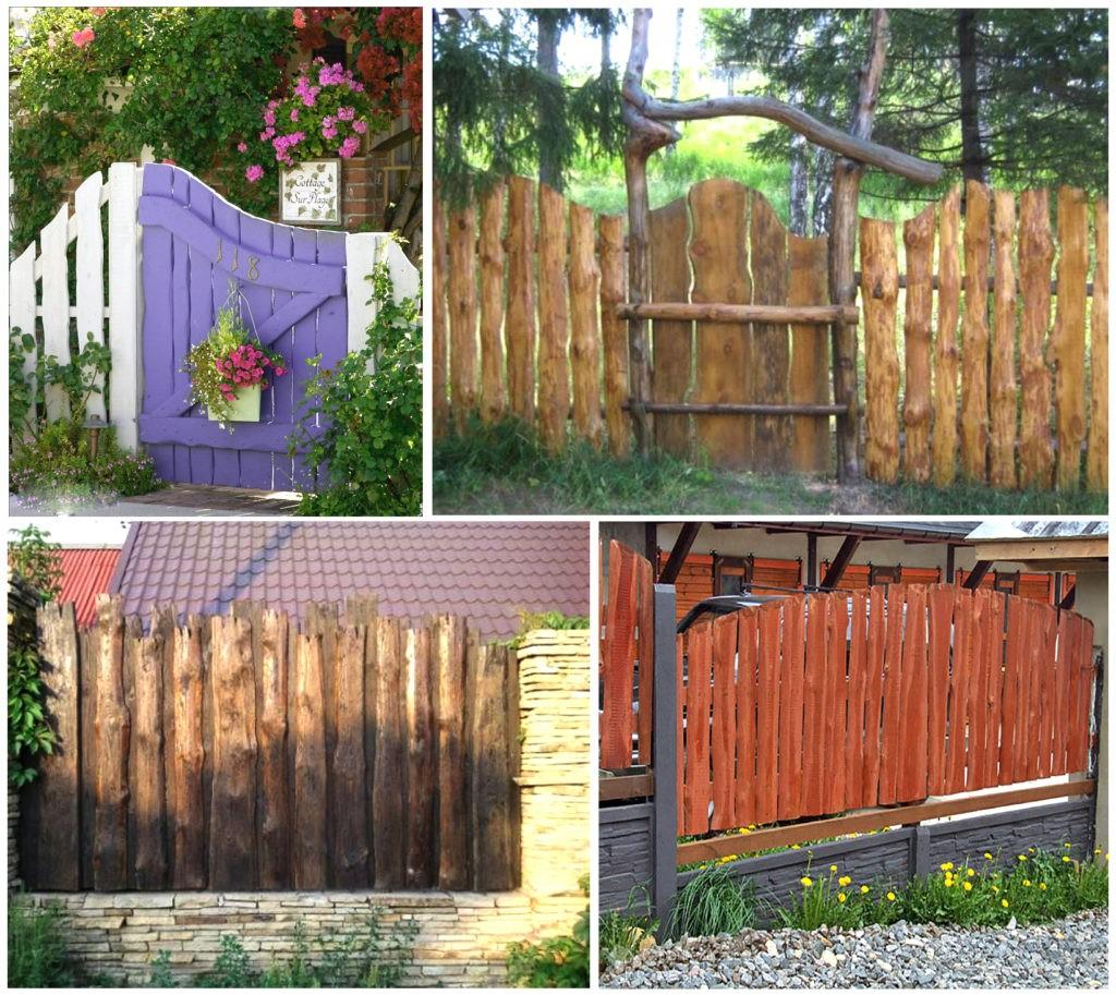 забор из горбыля варианты