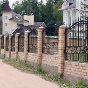 забор из кирпича фото дизайна