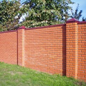 забор из кирпича фото оформление