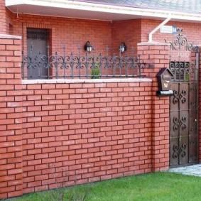 забор из кирпича фото оформления