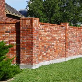 забор из кирпича идеи фото