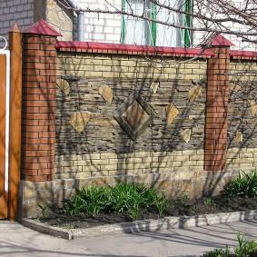 забор из кирпича виды идеи