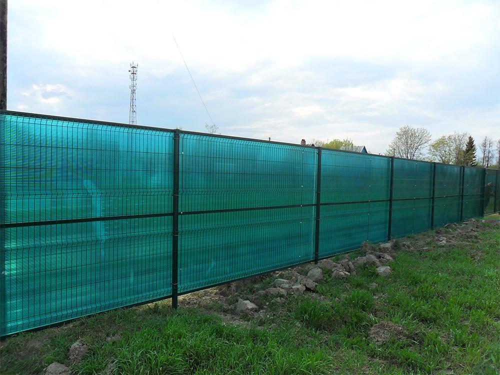 забор из поликарбоната дизайн