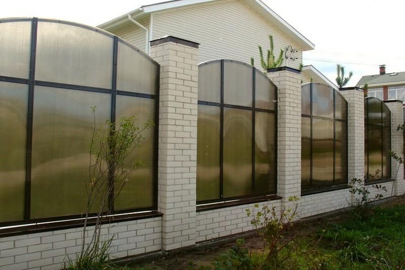 забор из поликарбоната фото дизайн