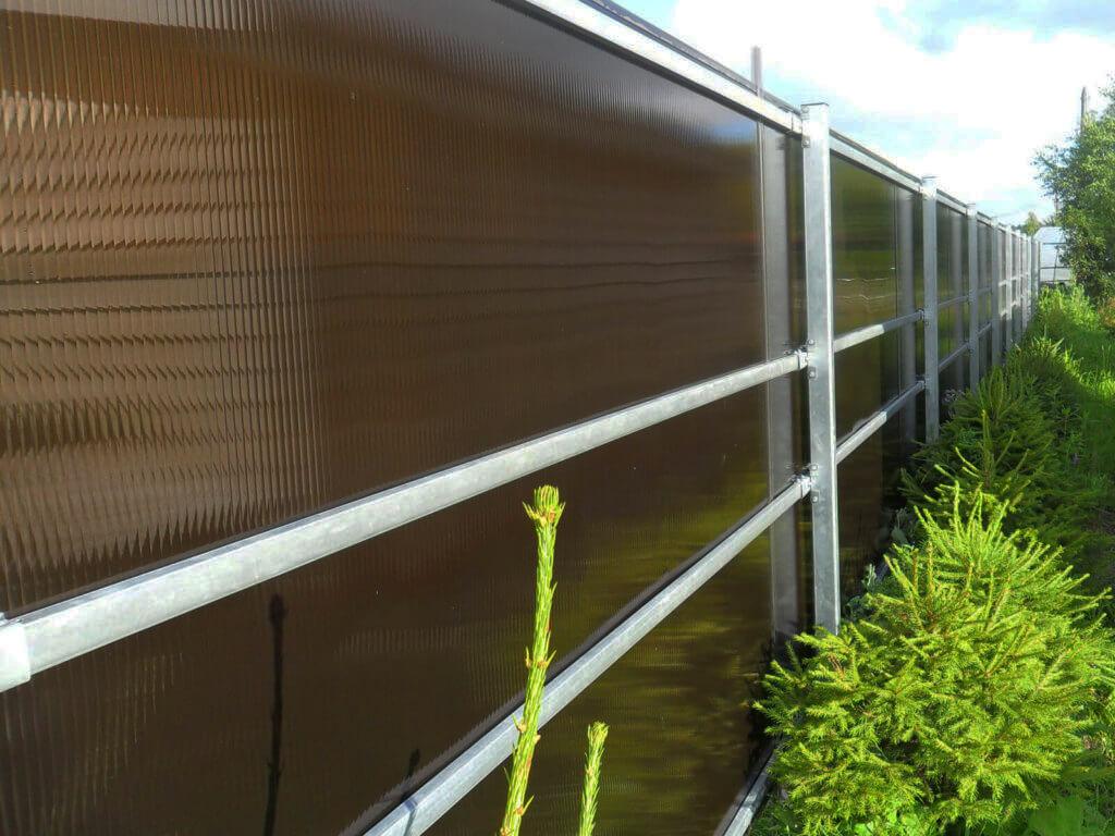 забор из поликарбоната идеи дизайн
