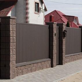 забор из профлиста фото декора