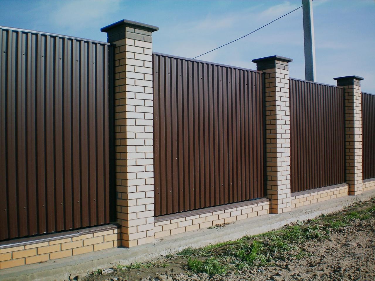 забор из профнастила дизайн
