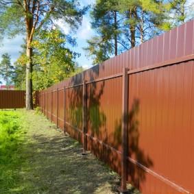 забор из профнастила оформление фото